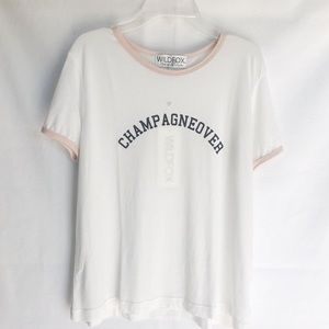 Wildfox NWT Champagnover Tee